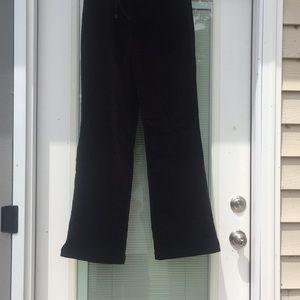 NWT St John Sport black velvet pants size 4